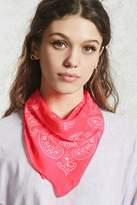 Forever 21 Satin Paisley Square Scarf