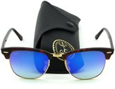 Ray-Ban RB3016 Clubmaster Flash Gradient Series Unisex Sunglasses (, 51)
