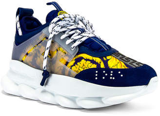 Versace Chain Reaction Sneaker in Blue | FWRD