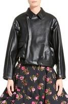 Comme des Garcons Women's Asymmetrical Faux Leather Jacket