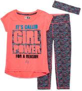 RBX 3-pc. Girl Power Tee, Capris and Headband Set - Preschool Girls 4-6x