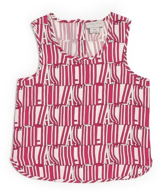 Stella McCartney Type Printed Sleeveless Top