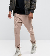 Asos Tall Drop Crotch Woven Joggers In Pink