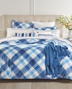 Charter Club Closeout! Damask Designs Painted Plaid 3-Pc. King Duvet Cover Set, Created for Macy's Bedding
