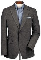 Classic Fit Grey Luxury Border Tweed Wool Jacket Size 36