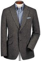 Classic Fit Grey Luxury Border Tweed Wool Jacket Size 48 By Charles Tyrwhitt