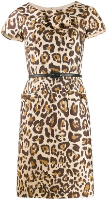 Christian Dior 2000s Pre-Owned Leopard Print Dress