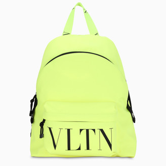 Valentino Fluo yellow VLTN backpack