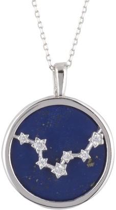 Latelita Zodiac Lapis Lazuli Gemstone Star Constellation Pendant Necklace Silver Pisces