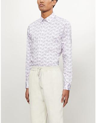 Ted Baker Sino bird-print regular-fit cotton shirt