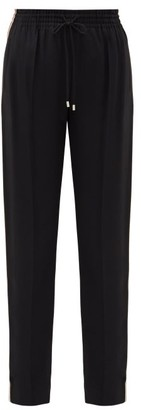 Chloé Logo-jacquard Side-stripe Trousers - Black