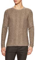 John Varvatos Weave Rib Stitch Crewneck Sweater