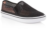 Kate Spade Sallie Glitter Mesh Slip On Sneakers