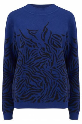 Sugarhill Boutique Aida Midnight Waves Sweater Blue Black - 8