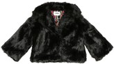 MSGM Kids Faux fur jacket
