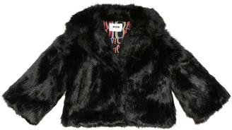 Msgm Kids Faux fur jacket