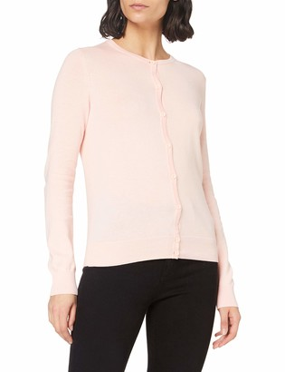 Meraki Women's Lightweight Cotton Crew Neck Cardigan Sweater