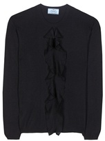 Prada Ruffled Cashmere And Silk Sweater