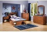 South Shore Clever Twin Bookcase Headboard in Sunny Pine