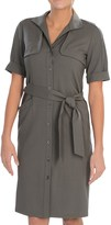 Lafayette 148 New York Eugena Contemporary Wool Stretch Dress - Short Sleeve (For Women)