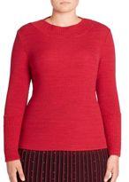 Stizzoli, Plus Size Rib-Knit Crewneck Sweater