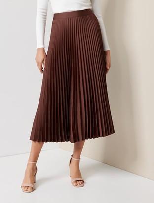 Ever New Ester Satin Pleated Skirt