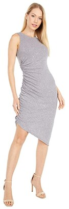 Vince Camuto Sleeveless Cocktail Dress with Side Ruching (Steel) Women's Dress