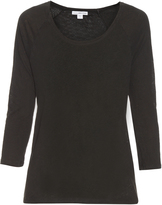 James Perse Raglan-sleeved linen and cotton-blend T-shirt