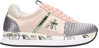 Premiata Conny Sneakers In Rose-pink Tech/synthetic