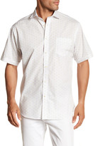 Thomas Dean Dotted Short Sleeve Regular Fit Shirt