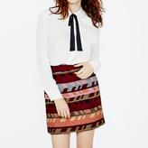 Maje Straight-fit jacquard mini skirt