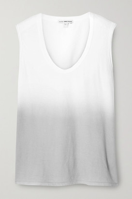 James Perse Ombre Cotton-jersey Tank - White