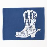 Celebrate Local Life Together Blue Boot Placemat