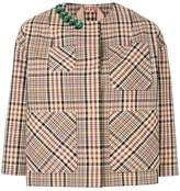 No.21 check embellished jacket