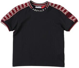 Dolce & Gabbana Cotton Jersey T-Shirt W/ Logo Bands