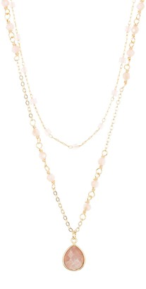 Panacea Layered Crystal Chain & Stone Pendant Necklace