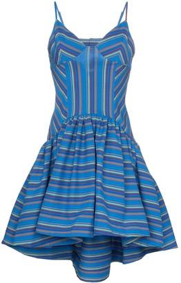 Rosie Assoulin Flared Stripe Print Dress