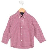 Oscar de la Renta Boys' Long Sleeve Gingham Shirt
