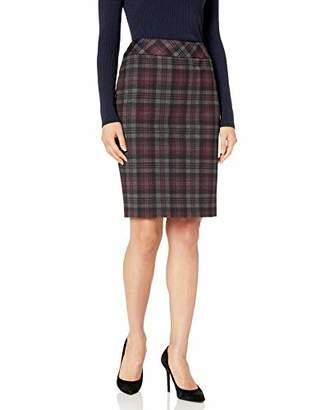 Nine West Women's Ponte Printed Skirt