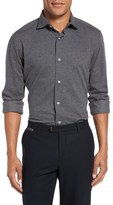 Eleventy Trim Fit Dot Jaquard Sport Shirt