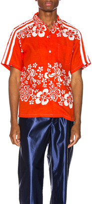 Just Don Hawaiian Bowling Shirt in Orange | FWRD