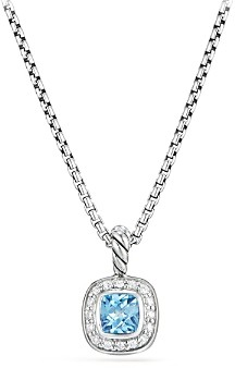 David Yurman Albion Kids Necklace with Blue Topaz & Diamonds