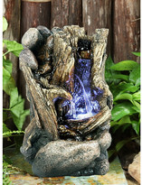 Hi-Line Gift Ltd. Fiber and Resin Tree Trunk Fountain