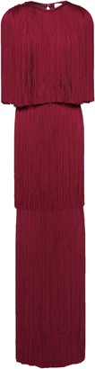 Herve Leger Tiered Fringed Bandage Gown