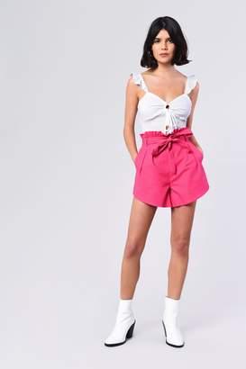 Glamorous Womens **Paperbag Shorts By Magenta