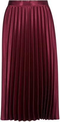 Dorothy Perkins Womens **Luxe Oxblood Pleated Skirt