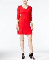 Kensie Long-Sleeve T-Shirt Dress