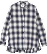 MM6 MAISON MARGIELA Oversized Plaid Brushed-cotton Shirt