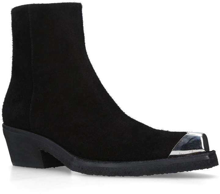 Calvin Klein Clute Toe Cap Ankle Boots