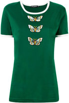 Dolce & Gabbana butterfly T-shirt - women - Cotton/Polyester - 42